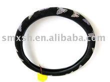 new design of nubuck car steering wheel cover 2011 gear knob