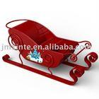 christmas metal red sleigh