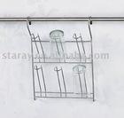 HBJ306 Kitchen Hanging Glass Holding Rack