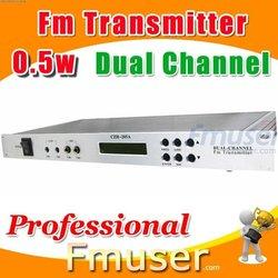18FSN Dual Channel fm transmitter 0.5w radio station automation software