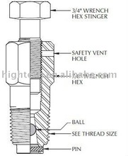 Grease and Packing Injection Fitting,ball check valve