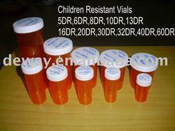 pharmacy vials with child resistant cap