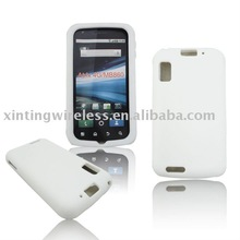 Pure White Silicone Skin Case For Motorola Atrix 4G/MB860