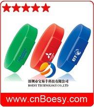 Popular silicone wristband USB stick, bracelet USB drive, high quality for your brand promotion usb memory stick.