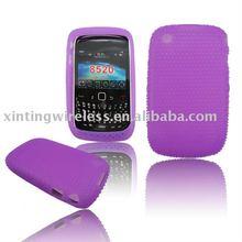 Purple Soft For Blackberry 8520 Silicone Case Cove Skin