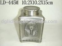 Egyption Square Shape Metal Tea Can(LD-445M)