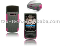 colorful 2 pcs Hardshell & silicone case for BB 9800