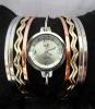 Señora Girl Fashion Pulsera brazalete reloj de pulsera
