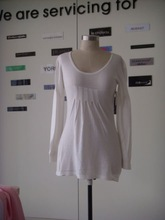 ladies 60%viscose 40%cotton knitted dress