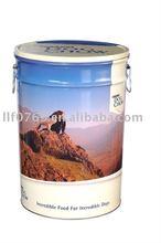 Tin pet food container
