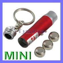 Metal Alloy Hook Flashlight Key Chain Mini Laser Pen