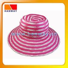 Women's braid and ribbon floppy fashion hat