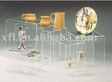 Bar chairs,Clear acrylic layers coffee table