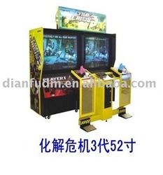52 inch Time crisis 3 amusement gun arcade shooting game machine