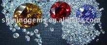 fashion dazzling round shape cubic zirconia colourful gemstone