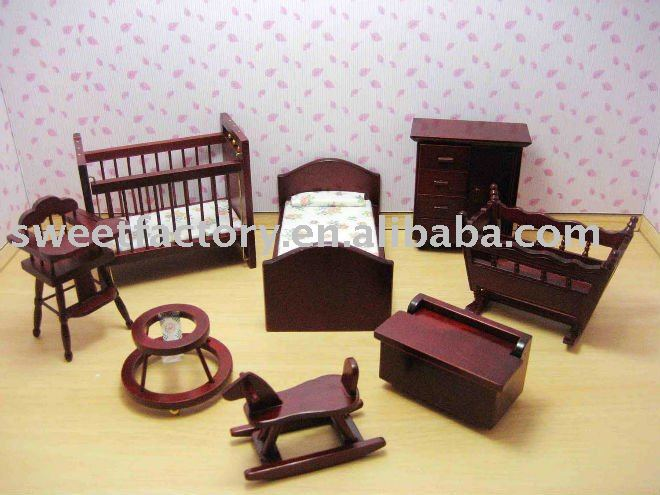 Wooden doll house baby furniture toys view baby furniture sweet product details from yongjia Wooden baby doll furniture