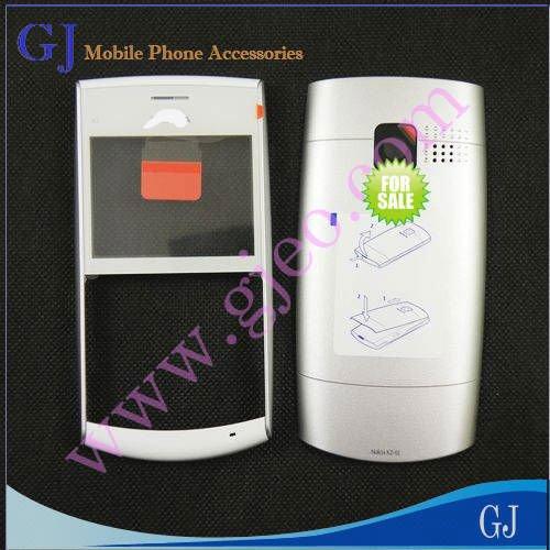 Original, capa para celular nokia x2-01, branco, carcaça completa