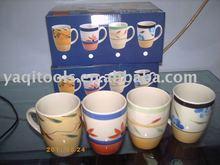 9oz stoneware handpaint mug