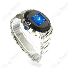 N958 Black New Design Mp4 Camera Stainless Steel Band Hand Watch Mobile Phone