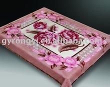 100% polyester printed &super soft raschel blanket