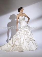 2011 new hot style unique design elegant a-line ruffle wedding dress