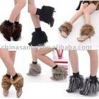 fashion aux fur short leg warmer boot cover