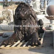 bronze lion carving(factory)