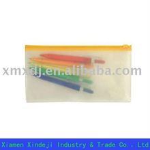 PVC pencil pouch in colorful zipper