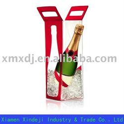 PVC wine bottle carrier for gift