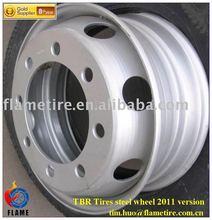 Steel wheels/rims 6.00x17.5, 7.50x22.5, 8.25x22.5, 9.00x22.5