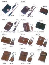 leather business card holder set