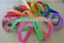 silicon printing bracelet,silicon engrave bracelet, promotion wristband