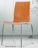 Natural bentwwod restaurant stacking chair