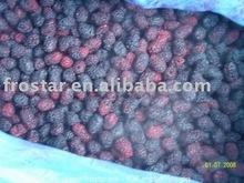 fresh frozen BLACK mulberries