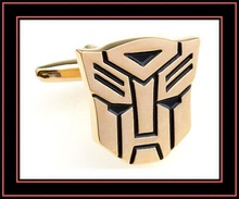 fashion gift articles made of Optimus Prime cufflinks with black enamel