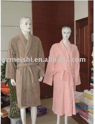 velour towel bathrobe