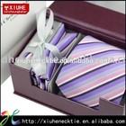 Stripe Polyester tie necktie gift box set for men mixed patterns