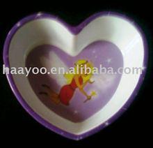 Melamine Heart Shape bowl : Melamine bowl :Plastic bowl