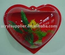 Clear acrylic mini fish tank