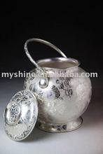 Myshine Best gift art collectible 990 sterling sliver tea pot art