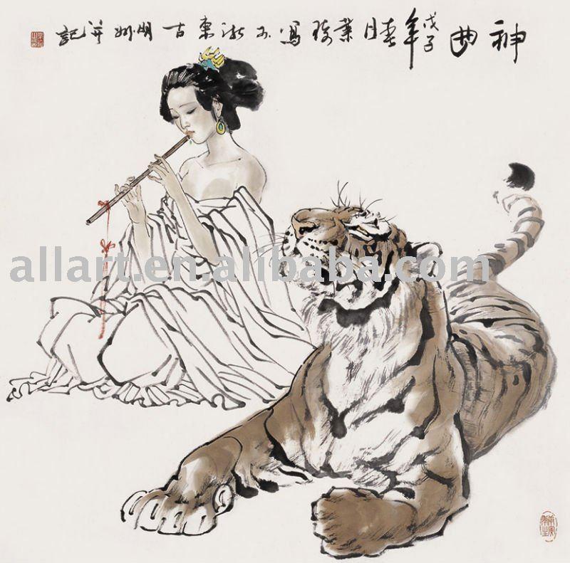 Ancient chinese tiger drawing - photo#12