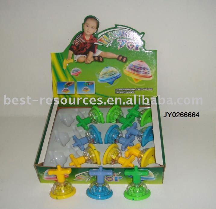 Flashing spinning top toy