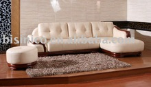 luxury and high quality noble american style genuine leather sofa set B46096