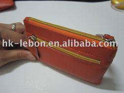 Designer sheepskin leather coin purse