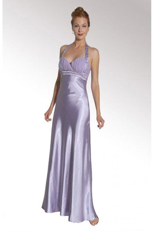Satin Cross Halter Neck Prom Dress ? Teen & Women