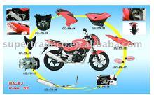PLASTIC PARTS BAJAJ PULSAR 200 (MOTORCYCLE PARTS, best quality, best price, best service)