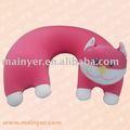 Animal cuello almohada de viaje de gato; niños de dibujos animados cojín