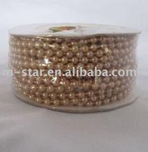 10Yard COFFEE 4mm Wedding Pearl Bead Roll Garland