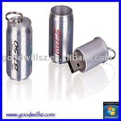 metal drink can usb flash drive 2.0 with custom design