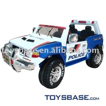 Baby police toy car ride on car double chairs